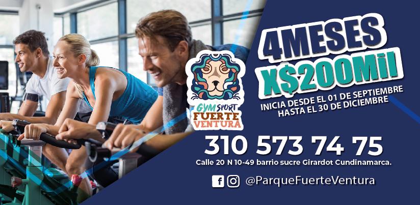 Super Descuento Gym Sport 4 meses por $200.000